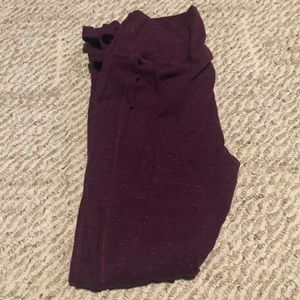 Maroon, cropped leggings with cut outs